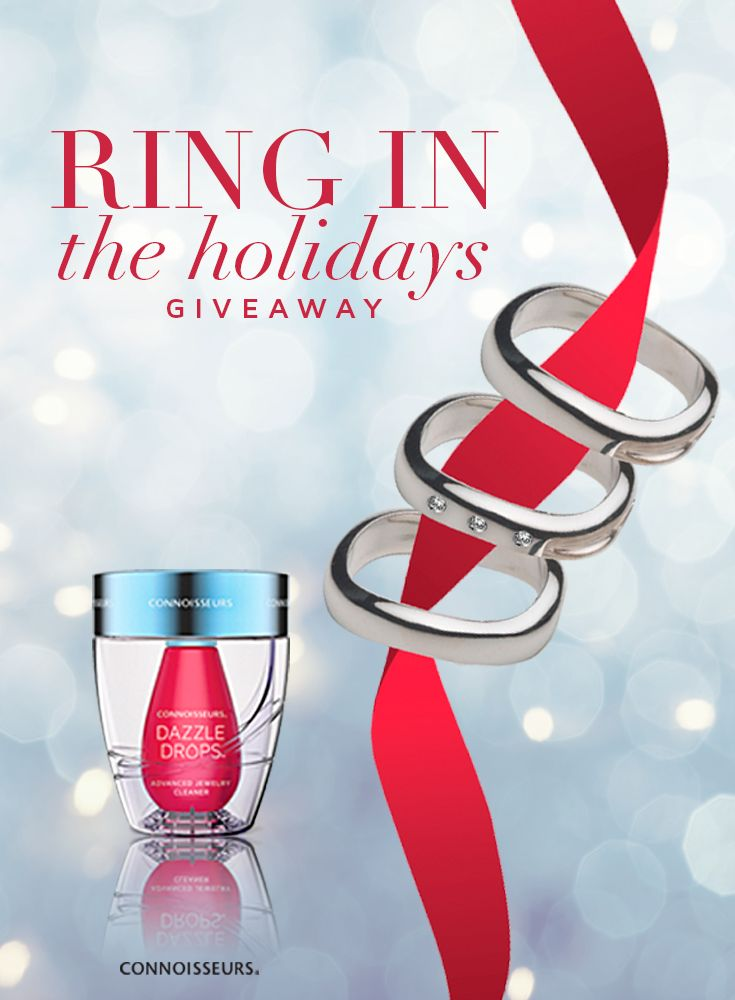 Ring in the Holidays Contest!   You could WIN all 3 of our Dazzle Products & 3 Sterling Silver Stacking Dorfman Rings (One with Diamonds!) - Jewelry Contest