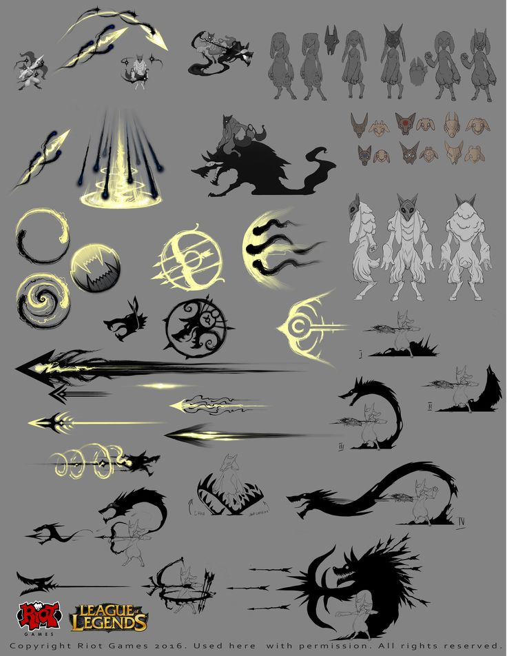 ArtStation - Kindred to League of Legends, Alexandr (LittleDruid) Pechenkin  https://www.artstation.com/artwork/aL2YX