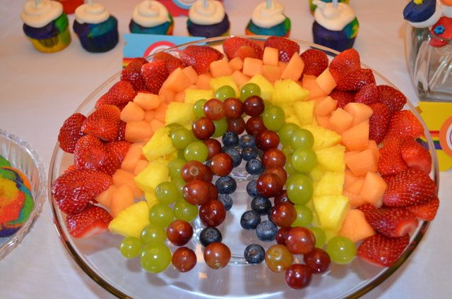 Fruit at a Rainbow Party #rainbow #partyfood