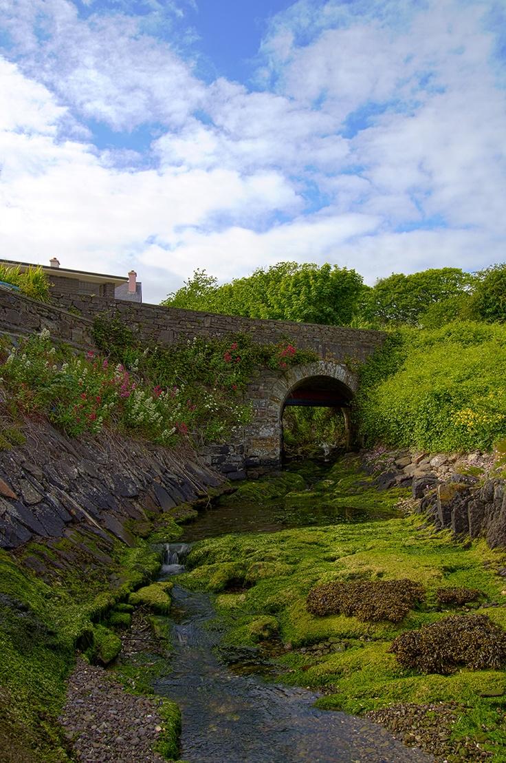 Schull West Cork Stone Bridge Down Near The Harbor