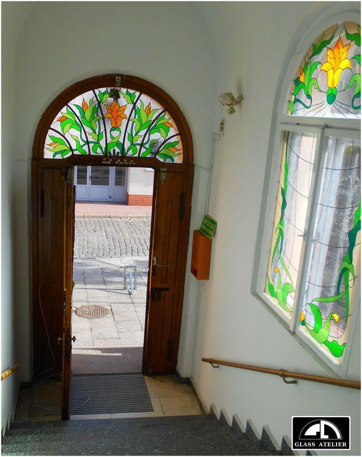 naświetle drzwiowe #glassatelier , #polandhandmade , #oberaly
