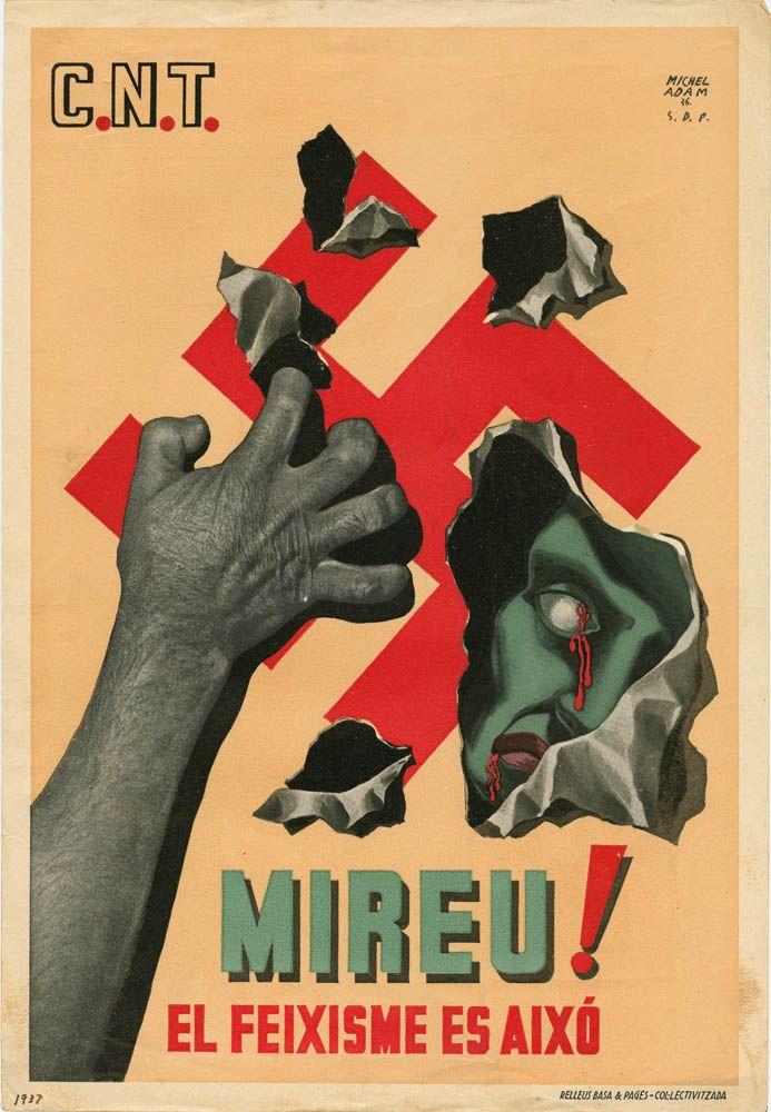 Confederación Nacional del Trabajo, Poster, 1937 - Spanish Civil War