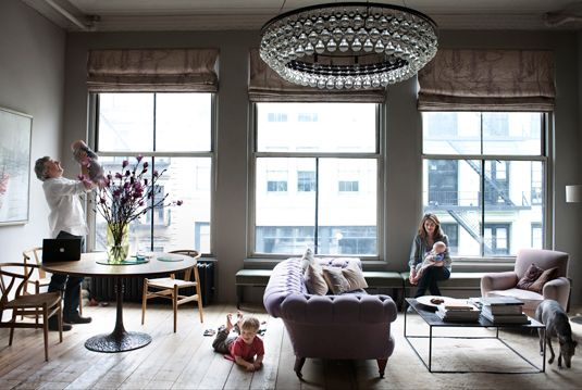 Oval Chandelier: Dreams Home, Living Rooms, Lights Fixtures, Elle Decor, Window, Open Spaces, Living Spaces, Apartment, Elledecor