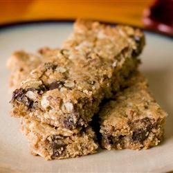 Playgroup Granola Bars. I reduced sugar by half & added 1/2 c applesauce to make them chewy rather than crunchy. Great base recipe-so versatile! YUM!