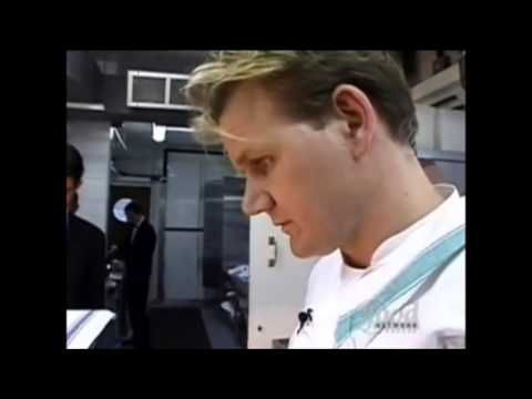 Anthony Bourdain (prior to No Reservations) visits chef Ramsay's restaurant in UK - YouTube