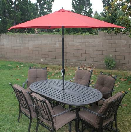 9 Foot Blue Canopy Patio Umbrella, More Than One.   $75 (San Marcos) Http:// Sandiego.craigslist.org/nsd/fuo/4490928947.html Easy To Use And Very Sturdy!