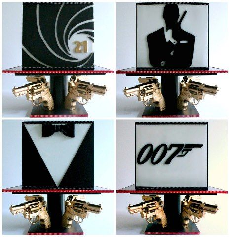Amazing James Bond 007 Cake - Little Wish Cakes