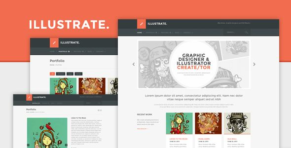 Illustrate - Responsive Portfolio & Blog Theme - Portfolio Creative