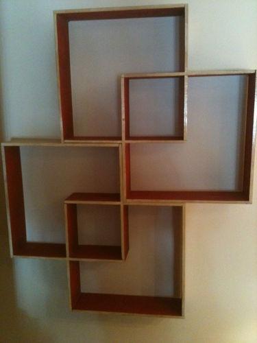 retro midcentury eames erared u0026 wood shadow box