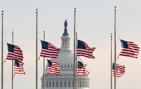 **Unique Memorial Day Flag Etiquette (Half staff until noon)**  Memorial Day is the only day in which flags are flown at half-staff for only part of the day -- to both honor the sacrifices of those who gave their lives and to inspire those who continue in their stead.Fly Halfstaff, Flags Fly, 2013 Marathons, Marathons 2013, Debt Ceilings, Flags Display,  Flagstaff, Halfstaff Halfmast, Boston Marathons