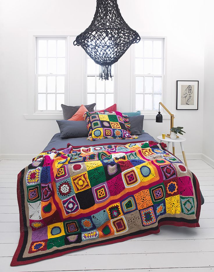 Crochet throw by Panda Australia