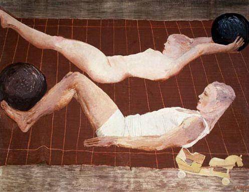 Художник Александр Дейнека. Живопись. Утренняя зарядка.. 1932