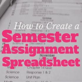 Organized Charm: How to Create a Semester Assignment Spreadsheet