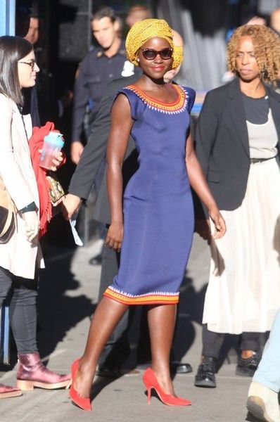 Lupita Nyong'o Photos Photos - Celebrities make an appearance on 'Good Morning America' at ABC Studios in New York City, New York on September 26, 2016.
