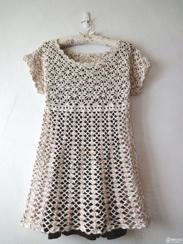 Free Crochet Dress Pattern or long shirt