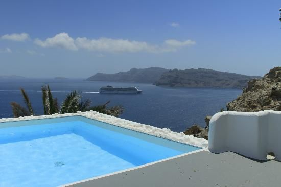 VILLA KATIKIES Santorini | view fm swimming pool