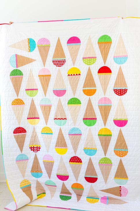 mod ice cream quilt pattern / ann kelle for robert kaufman fabrics