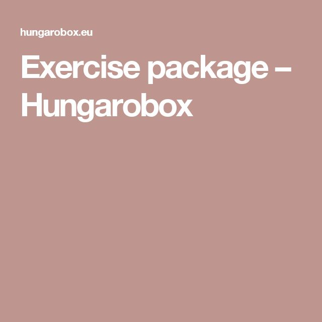 Exercise package – Hungarobox