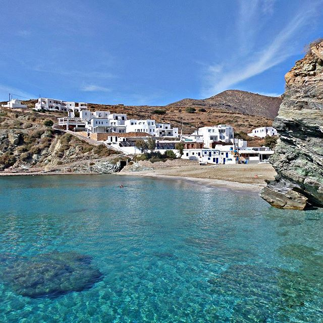 Agkali #beach, with crystal waters! #Folegandros Photo credits:  @giovanni.isolano