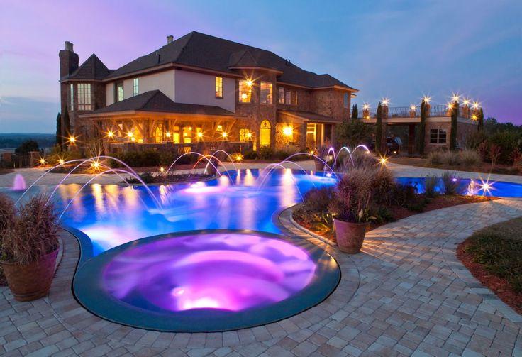 Sunstone Pearl Blue Pearl Finish Pool colors Pinterest - eine feuerstelle am pool