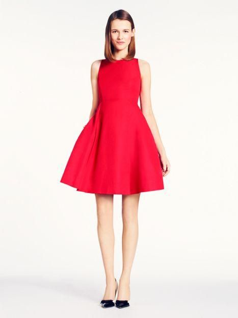 little black dress: check. now try a little red dress — the angelika    dress by kate spade new york. (april 2014)
