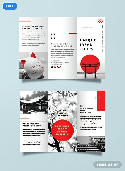Travel Brochure Template   Free Japan Travel Brochure Brochure Templates Design 2019