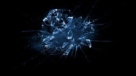BROKEN GLASS - glass, bstract, broken, blue