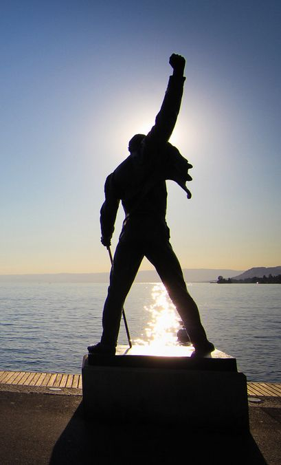The show must go on. Freddie's statue in Montreux, Switzerland. RIP.