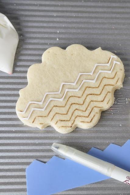 Haniela's chevron cookies
