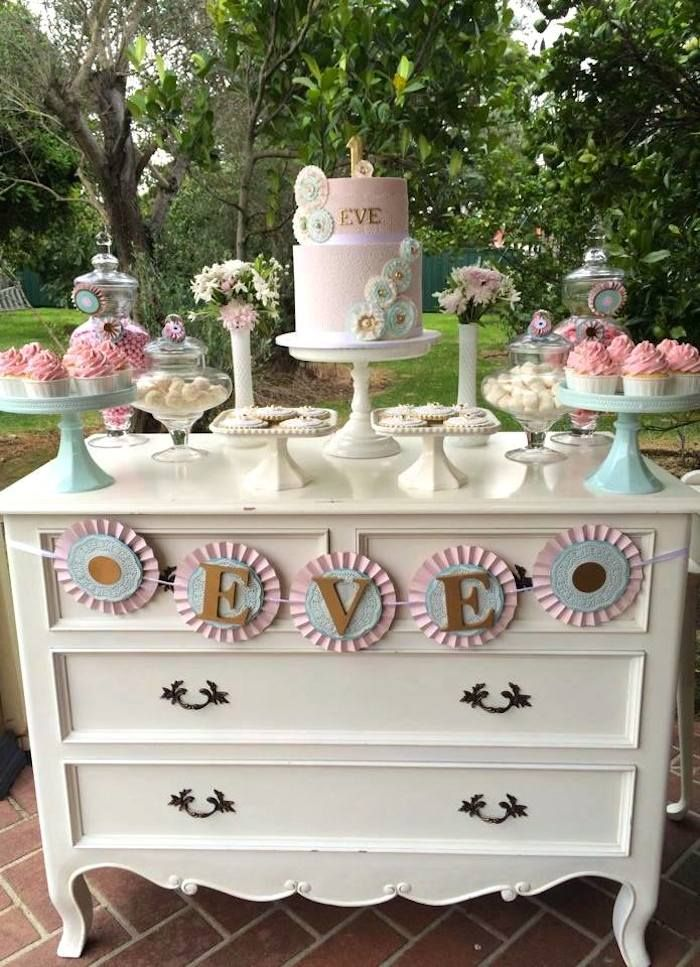 Cake Decor And More Gewerbepark : Rosette themed 1st birthday party with Lots of Cute Ideas ...