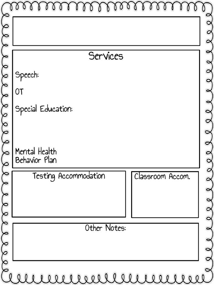 Best 25 teacher forms ideas on pinterest substitute teacher iep at a glance classroom teacher form pronofoot35fo Choice Image