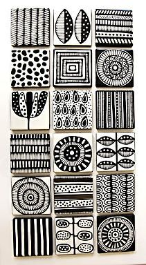 Jocelyn Proust Designs, pattern design, hand painted tiles | wall tiles
