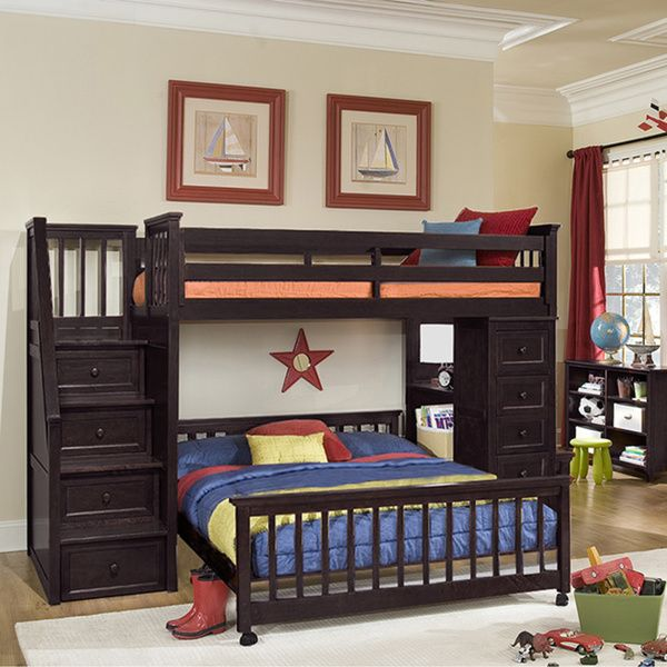 Add a storage unit to bunk beds with this innovative chest, crafted of quality poplar wood. This vintage styled piece is finished in a rich chocolate for a truly dazzling look. Features: Storage: Four