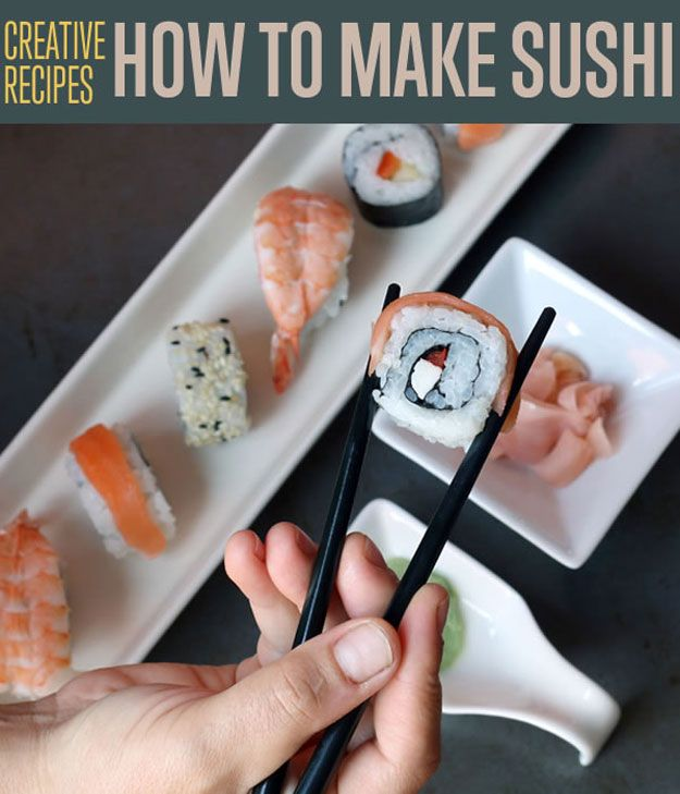 DIY Projects for the Home! 3 Sushi Recipes | http://diyready.com/3-sushi-recipes-how-to-make-sushi/