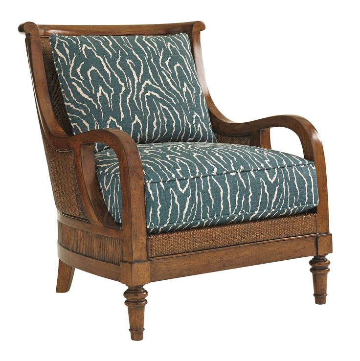 Bali Hai Island Paradise Chair With Intricate Wood And Woven Wicker Frame  By Tommy Bahama Home At Furniture Barn U0026 Manor House