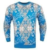 NFL Detroit Lions Men's Candy Cane Ugly Sweater