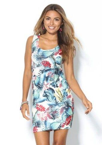 Šaty s exotickým motívom #Modinosk #šaty #dress #outfit