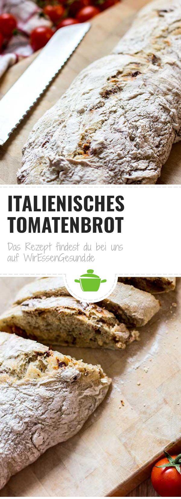 Anzeige | Rezept für ein frisches, hausgemachtes italienisches Tomatenbrot. W …   – Vegane Rezepte