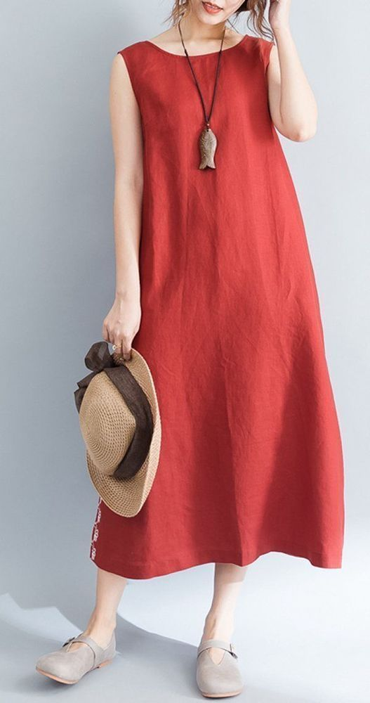 Women dress loose fit pocket maxi tunic summer casual Bohemian Boho beach chic