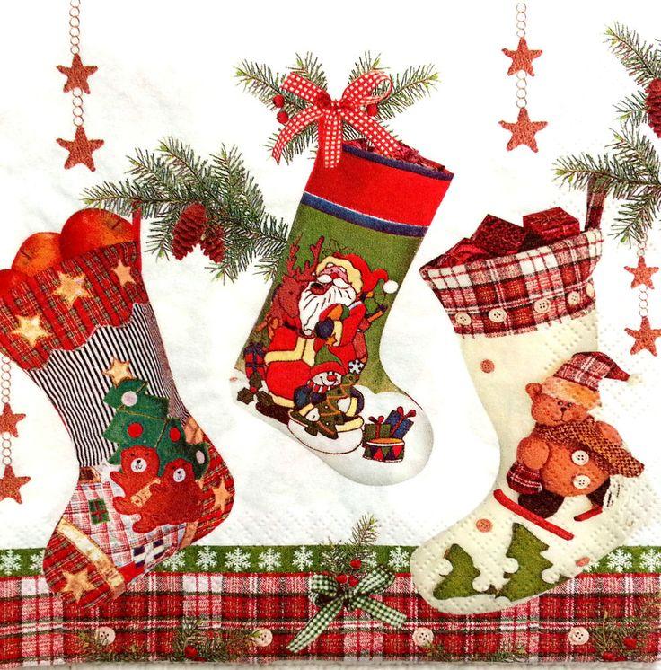 Открытки на новый год с носком