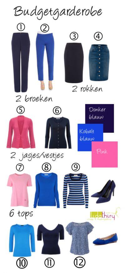 Met deze 12 kledingstukken kun je 21 én zelfs meer combinaties maken. Interessant blog hoe je met minder geld er altijd leuk uit kunt zien #kledingcombinaties