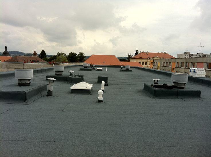 #Rekonstrukce ploché střechy