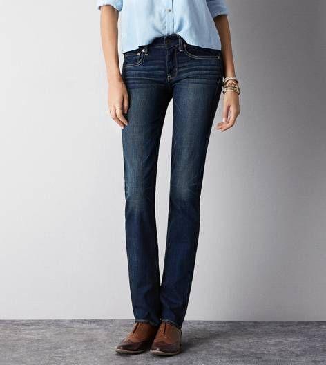Worn Dark Straight Jean