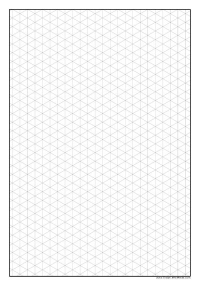 Lucrative image in printable isometric graph paper