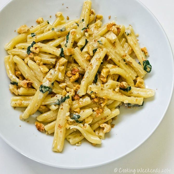 Cooking Weekends: Casarecce with Gorgonzola and Walnuts