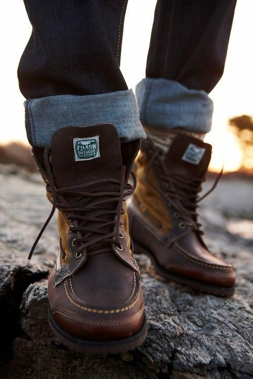 dark brown hiking boots for men