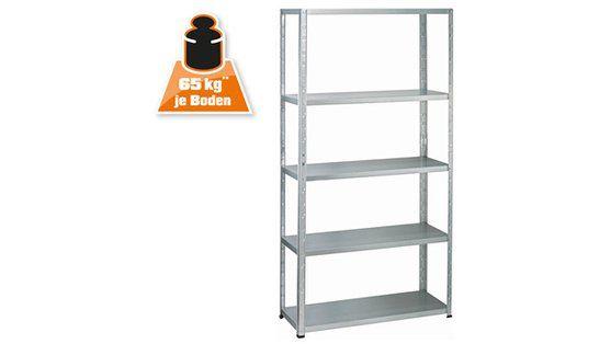 OBI Metall-Steckregal Verzinkt 195 x 100 x 40 cm