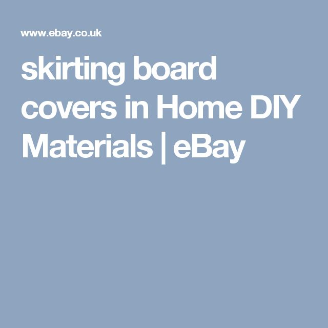 skirting board covers in Home DIY Materials | eBay