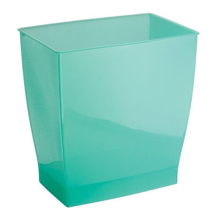 aruba green rectangular shape wastebasket bathroom kitchen office