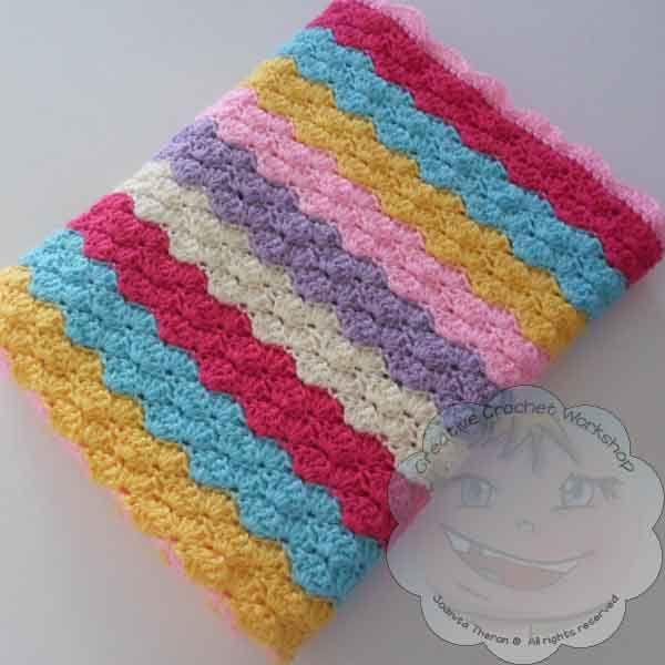 Crochet Rainbow Baby Blanket Pattern By Flavia : 351 best Crochet baby blanket images on Pinterest